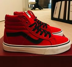 e8ddbf162e Brand New VANS SK8 HI REISSUE CANVAS CHILI PEPPER SZ US M 7 UK 6 US W 8.5   VANS  AthleticSneakers