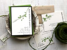 Elegant Irish Themed Wedding Stationery