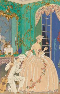 Fêtes galantes #gallica #illustrator #barbier #verlaine