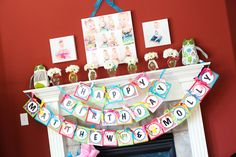 Owl themed birthday...love everything!!!! ESP the idea of an area for pic for cake smash