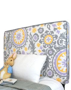 Cute print with cording! Headboard and Reversible Slipcover
