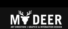 logo, typography, deer,