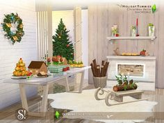 Yay! Ho-Ho-Holidays time: D To increase your party ambiances, we brought 15 delicious decor items to add Christmassy touch to your game.  Found in TSR Category 'Sims 4 Decorative Sets'
