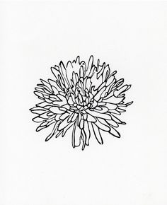 Flower 3 linocut print 8 x 10 by WeThinkSmall on Etsy, $15.00