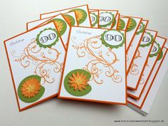 #Einladungen zum 90. #Geburtstag in knallig Orange, Gelb, Grün   http://eris-kreativwerkstatt.blogspot.de/2017/03/einladungen-zum-90-geburtstag-in.html  #stampinup #teamstampingart #einladung #karte