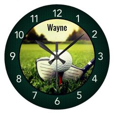 Golf Personalized Wall Clock - decor gifts diy home & living cyo giftidea