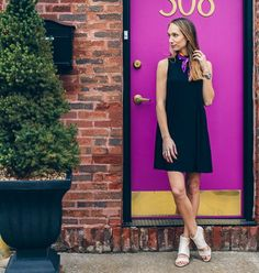 this door  | p.s. I'm giving away a pair of these @aerosoles_shoes wedges on the blog hop over to thefoxandshe.com to enter! | #giveaway #abmstyle #abmlifeiscolorful get outfit details here:  @liketoknow.it www.liketk.it/29EYD #liketkit