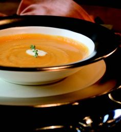 Roasted Butternut Squash Soup with Creme Fraiche and White Oregon ...
