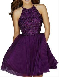 AIJIAYI Women's Beading Keyhole Back Short Tulle Homecoming Dresses Prom Gowns Purple US4. Fabric:Tulle with Beading and Sequins. Silhouette:A Line, Scoop, Keyhole Back, Sleeveless. Custom made process (from the date we receive your payment and measurements) will take about 1-2 weeks.The the delivery time is about 10 days. the total time is about 25 days. Notice:Before order, Please refer to OUR Size Chart and measuring guide at the LEFT. Suitable for prom, ball, wedding, evening party...