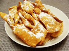 Angel wings (faworki,chrust, chrusty, chruścik)  Angel wings (in Polish faworki or chrust, chrusty, chruścik) are traditionally made in Poland during the Carnival and Fat Thursday. It's a kind of crispy pastry shaped into thin twisted ribbons, deep-fried and sprinkled with icing sugar
