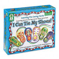 """""""I Can Tie My Shoes!"""" Lacing Cards Ages 4 and Up, (437104)"""