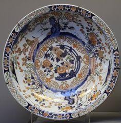 A pair of very large 17th Century Japanese Imari plates