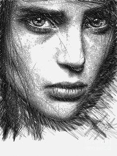 Female Sketch  Digital Art by Rafael Salazar