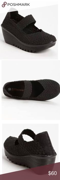 Bernie Mev Lulia Black Wedge Shoes Size 36 (6). Brand NEW. Bernie Mev Shoes Wedges