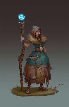 ArtStation - Silvan witch, Angelika Winter