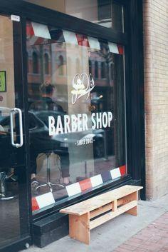 JD's Barbershop // A Month of Gentlemen// Hot Shave Barber Shop Interior, Barber Shop Decor, Hair Salon Interior, Interior Design Images, Salon Interior Design, Salon Design, Best Barber Shop, Barbershop Design, Barbershop Ideas
