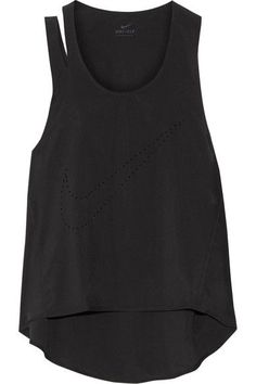 Nike - Flex Training Cutout Perforated Dri-fit Stretch Tank - Black -