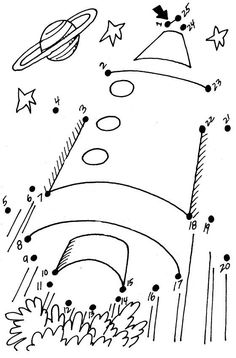 rocket dot to dot printable: for improving ability to direct movement of the hands using kinesthetic sensory information: