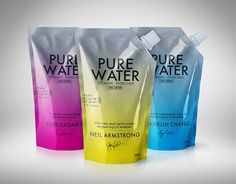 Pure Water, vitamin enriched: Space Edition #packaging