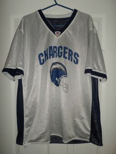 Mens Blue, Silver SAN DIEGO CHARGERS Reversible Flag Football NFL Jersey, Size M #NFLFLAGFOOTBALLReversible #SanDiegoChargers