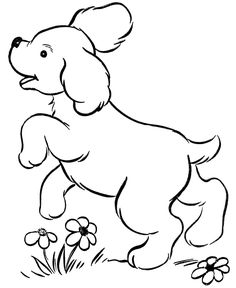 print out coloring pages | Dog Coloring Pages | Printable Cute puppy playing coloring page sheet ...