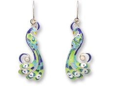 Loving peacocks right now. I totally want these earrings!
