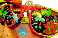 paint splattered sunglasses...really want to make some now!