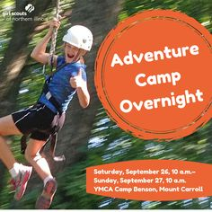 Adventure awaits! She'll take a trip down the 3-story tall zip-line, enjoy a leisurely hike through the grotto, explore the dark and cold cave, and hop in an inner tube for a relaxing ride down the Waukarusa River.