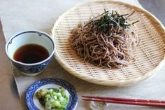Zaru Soba recipe and instructions. Zaru Soba is cold buckwheat noodles with dipping sauce, and it is a cool summer noodle dish in Japan. Zaru means a colander or a strainer in Japanese, and cold Soba noodles are usually served on a slotted bamboo mat that lets water drip through.