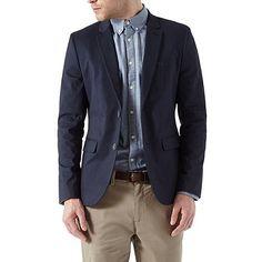 Burton Navy cotton blazer | Debenhams