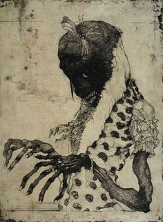 Ananas à Miami: Illustrations by Toshihiko Ikeda Bizarre Kunst, Bizarre Art, Arte Horror, Horror Art, Illustration Art, Illustrations, Macabre Art, Japanese Art, Asian Art
