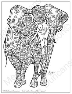 Elephant Coloring 1 For Download