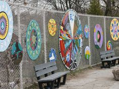 Hilary Inwood, Community Art Projects- fence paintings!