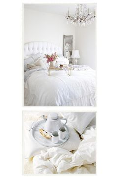 White on white - just beautiful breakfast in bed.