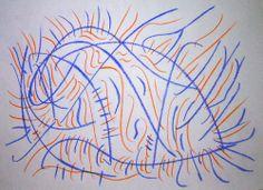 """""""Sgorbio IX"""" 2012 Matita a colori su carta 21x29,5 ©Pietro Gargano"""