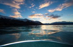 No pain, no gain: Sean's in-water shot of Lake Wanaka