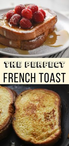 Learn how to make French Toast the simple (and delicious) way! Soft on the inside while brown and slightly crispy and buttery on the outside. What Is French Toast, French Toast Bites, Perfect French Toast, Challah French Toast, Homemade Breakfast Sausage, Savory Breakfast, Sweet Breakfast, Breakfast Recipes, Brunch Recipes