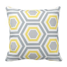 Modern Hexagon Pattern Pillow | Yellow Gray in each seller  make purchase online for cheap. Choose the best price and best promotion as you thing Secure Checkout you can trust Buy bestThis Deals          	Modern Hexagon Pattern Pillow | Yellow Gray Review on the This website by click...