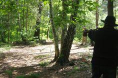 Tir entre des arbres ...pas facile ... ! ! !  Le 03/06/2013 ! ! !