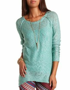 Slub Sweater Tunic Charolette Russe