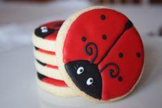 One dozen Ladybug cookie favors by WhimsicalOriginalsDB on Etsy, $36.00