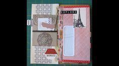 Travel journal from junk mail envelopes