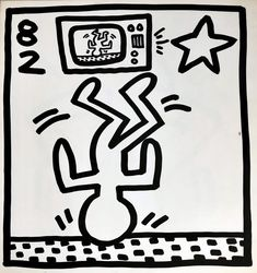 Available for sale from Lot Keith Haring, Keith Haring lithograph 1982 (Keith Haring Tony Shafrazi gallery) Offset lithograph, 9 × 9 in Keith Haring Prints, Keith Haring Art, Protest Posters, Principles Of Art, Albrecht Durer, Exhibition Poster, Renaissance Art, Art Auction, Vintage Prints