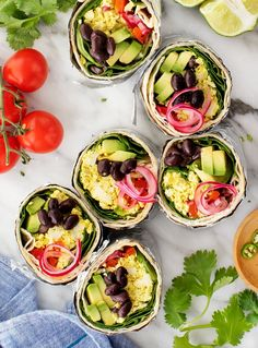 This vegan breakfast burrito is healthy, delicious, and packed with plant-based protein. It freezes perfectly, so it's a great recipe to meal prep for busy mornings. | Love and Lemons #vegan #mealprep #burrito #breakfast Best Vegan Breakfast, Delicious Breakfast Recipes, Breakfast Ideas, Slow Cooker Breakfast, Breakfast Burritos, Vegan Vegetarian, Vegetarian Recipes, Vegan Food, Diet Recipes