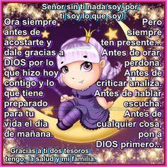 Mensajes para tu muro - Buenas noches Bratz, Prayers, Sweet Dreams, Drinks, God Is Love, Friday, Good Night, Prayer