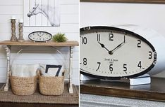 Add our distressed metal oval table clock to your farmhouse office space, kitchen, dining room, living room or even bedroom.