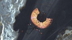 Burning man. As seen from space. Looks like an eagle's eye.