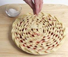 fancy pie shells | Decorative pie crust | Yummy stuff