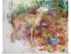 Poster Print Wall Art Print entitled Laerte the Greyhound, 1894 (oil on canvas), None