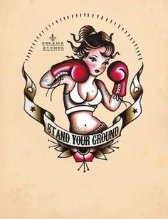 Would have her standing in roller skates instead of boxing gloves